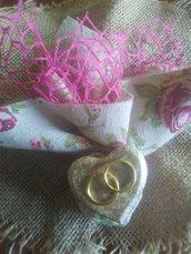 Bomboniere matrimonio cuore e fedi