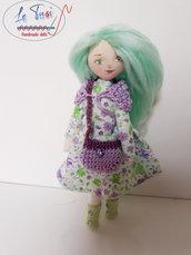 Bambola di stoffa fatta a mano, idea regalo bambina, bambola collezione Le Tusì bambole di stoffa