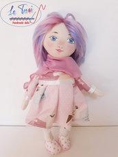 Bambola 35 cm, morbida bambola Le Tusì Bambole di stoffa fatte a mano