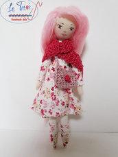 Bambola di stoffa fatta a mano, regalo bambina, bambola collezione Le Tusì bambole di stoffa