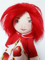 Bambola 35 cm Le Tusì Bambola di stoffa fatta a mano, bambola da collezione, bambola per bambina