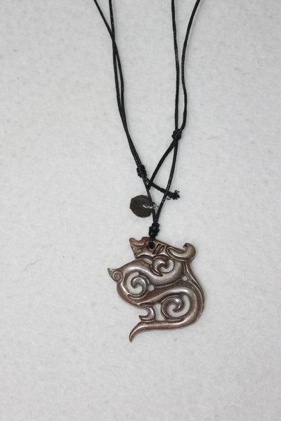 collana uomo drago bronzo