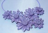 Collana kanzashi con fiori 1.5 colore lilla