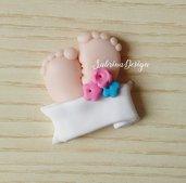 Bomboniera piedini, bomboniera battesimo, bomboniere nascita, piedino bomboniera, piedini nascita