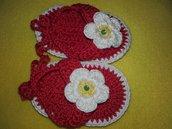 Sandali infradito bimba neonata scarpina uncinetto cotone homemade