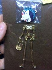 Corpo Bambolina color Oro con Ghirlanda Blu DIY