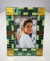 Portafoto a mosaico vetro specchiato di Murano
