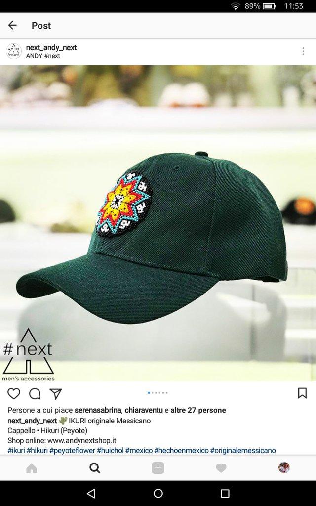IKURI- Cappellini baseball indigeni messicani con peyote