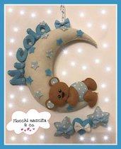 fiocco nascita orsetto sulla luna