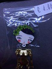 Corpo Bambolina color Oro con Ghirlanda Verde DIY