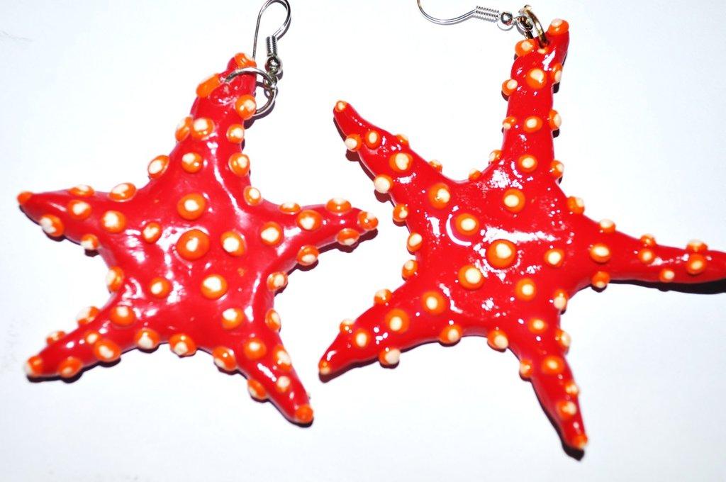 Orecchini stelle marine rosse