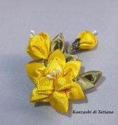 Fiore kanzashi per capelli 22