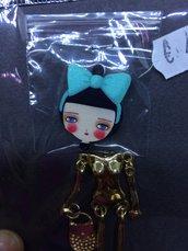 Corpo Bambolina color Oro con Fiocco Tiffany DIY