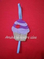 segnalibro pannolenci cupcake