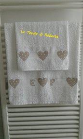 Asciugamani con applicazioni personalizzate
