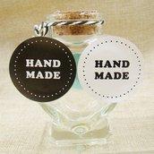 """Etichette in bianco e nero 28 pezzi set """"Hand made"""""""