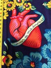 Stoffa Frida Kahlo  - (codice 95) - 56x62