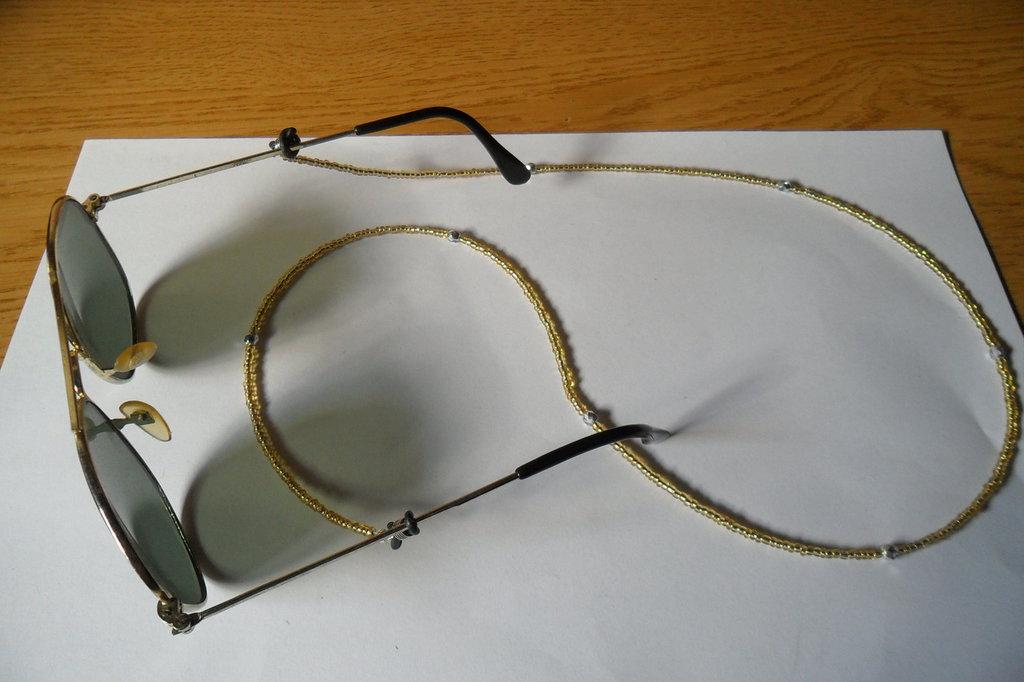 Catena occhiali gialla