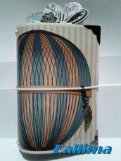Astuccio per Traveler's notebook  KALLIDORI stile vintage fatta a mano in gomma eva   e carta stampata plastificata.