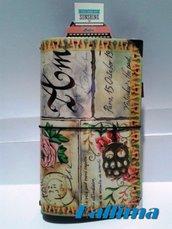 Astuccio per Traveler's notebook  KALLIDORI stile Postcard  fatta a mano in gomma eva   e carta stampata plastificata.