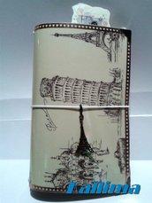 Astuccio per Traveler's notebook  KALLIDORI stile Holiday fatta a mano in gomma eva   e carta stampata plastificata.