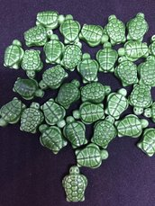 Perlina Porcellana Tartaruga Verde