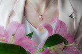 Collana catenina in argento 925 placcata oro rosa e ciondolo segno zodiacale
