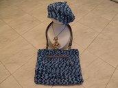 Tris di borsa,basco,collana portafortuna