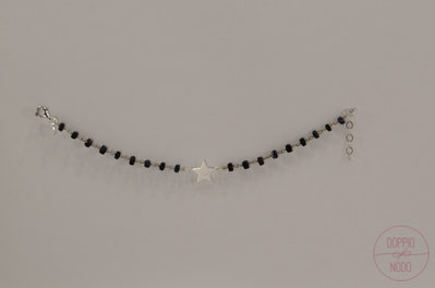 Bracciale rosario in argento 925 e ciondolo