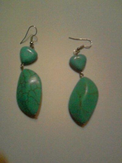 orecchini doppia pietra