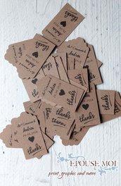 tags etichette craft