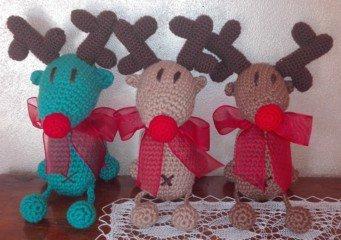 Amigurumi renne natalizie
