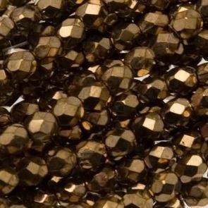 Mezzi Cristalli Metallic Bronze 4mm (40pz)