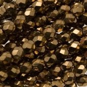Mezzi Cristalli Metallic Bronze 4mm (40pz)