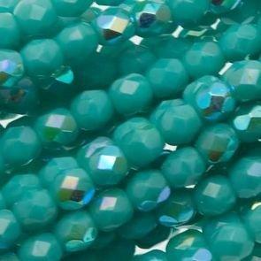 Mezzi Cristalli Opaque Turquoise AB 4mm (40pz)