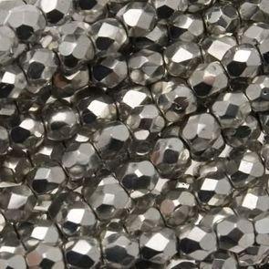 Mezzi Cristalli Silver 4mm (40pz)