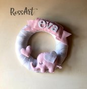 Ghirlanda nascita dolce elefantina