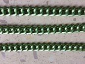 Catena 1 metro Verde Chiaro Alluminio Satinato