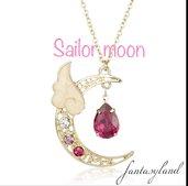 Ciondolo SAILOR MOON collana luna cristalli manga animazione magia