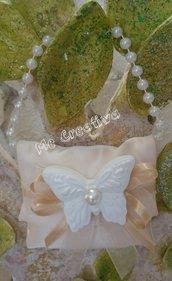 Pochette piccola c/manico perle