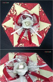 SCATOLA IN ORIGAMI 26 - box portagioie bomboniera regalo