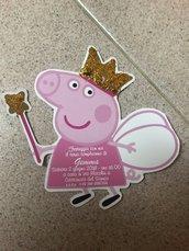 Invito compleanno Peppa Pig