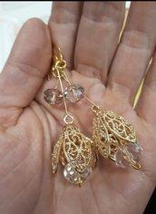 Campanellini in filigrana, orecchini pendenti.