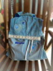 Zaino in jeans riciclo creativo.