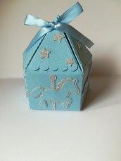 Scatolina scatola giostrina giostra carosello carousel cavallino cavalluccio porta confetti segnaposto battesimo compleanno nascita