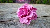 Anello peonia grande fucsia rosa fiore fimo bigiotteria gioielli fatti a mano
