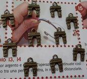 Charm ciondolo 'Arco del Triunfo' in ottone