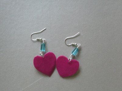 orecchini di fimo e perla