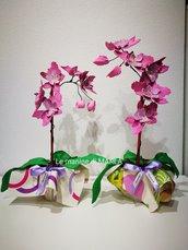 Pianta di orchidea in gomma crepla
