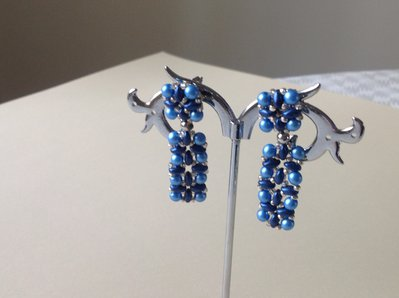 Orecchini blu superduo